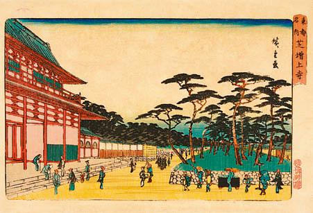 東都名所 芝増上寺