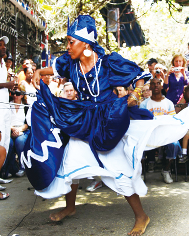 African dancing, a symbol of Cuban culture and its diverse blend of ethnicities and cultures