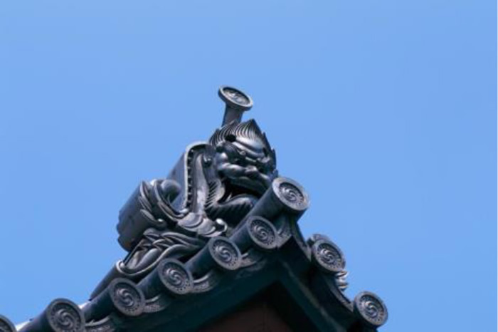 No.224 承教寺山門の鬼瓦
